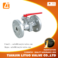 flanged rubber lined ball valve