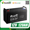 Bluesun valve regulated lead acid battery 12v 120ah with ISO CE ROHS