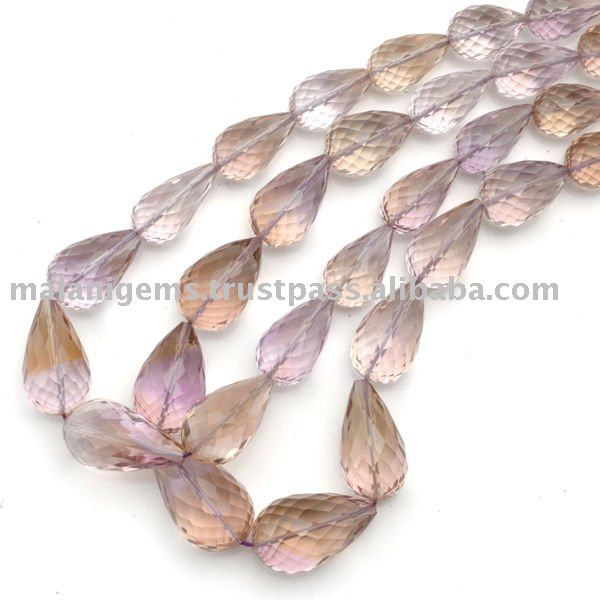 Natural Amethyst Straight Drill Facet Drops Loose Beads