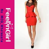 Wholesale cheap red gold pattern celebrity bandage bodycon dress yiwu