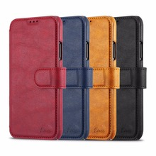Etree brand best quality flip cover for iphone x leather wallet case for iphone x mobile phone shell card slots cover