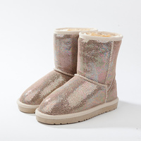 EU28-36 new look women classic brand top design warm style calf Antislip enfant snow boots for female children girls wholesale