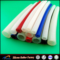 Clear Braided silicone Hose - Food Grade - Oil / Water / Gases - Reinforced Pipe Tube