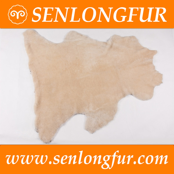 Real fur fabric with customized briliant wool