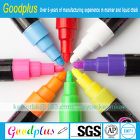 Professional Marking Ink Pen With 6mm Dual Tip liquid chalk markers 8 pack children friendly
