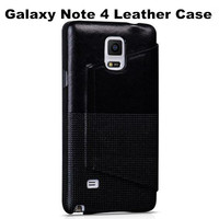 Top Quality Brand HOCO Fashion PU Leather Case+Big Window For Samsung Galaxy Note 4 N910 4 Black Brown