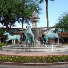 Hot Sale Large Outdoor Bronze Horse Fountain