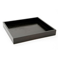 BSCI&FSC wood crafts custom decorative handmade black oak wooden trays
