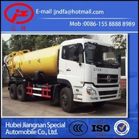 new Dongfeng sewage suction truck Suction sewage vacuum truck JDF5250GXWDFL 6x4 16CBM 18CBM 20CBM sewage suction tanker trucks