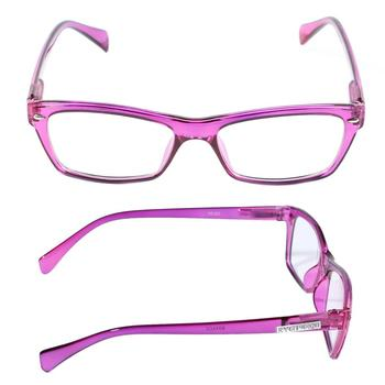 Y&J high quality UV400 clear pink frame women reading glasses