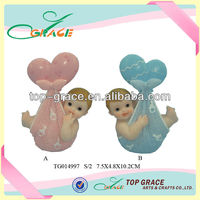 Resin small magic cheap child baby dolls