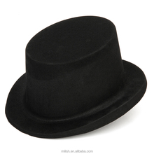 MH-2108 Party PVC PP Plastic Black flocked Top Hats