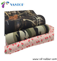 Trade assurance factory wholesale 2mm 5mm camo neoprene rubber sheet fabric