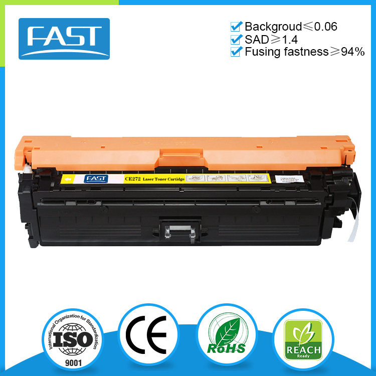 Remanufactured yellow toner cartridge ce272a for HP Color LaserJet CP5525
