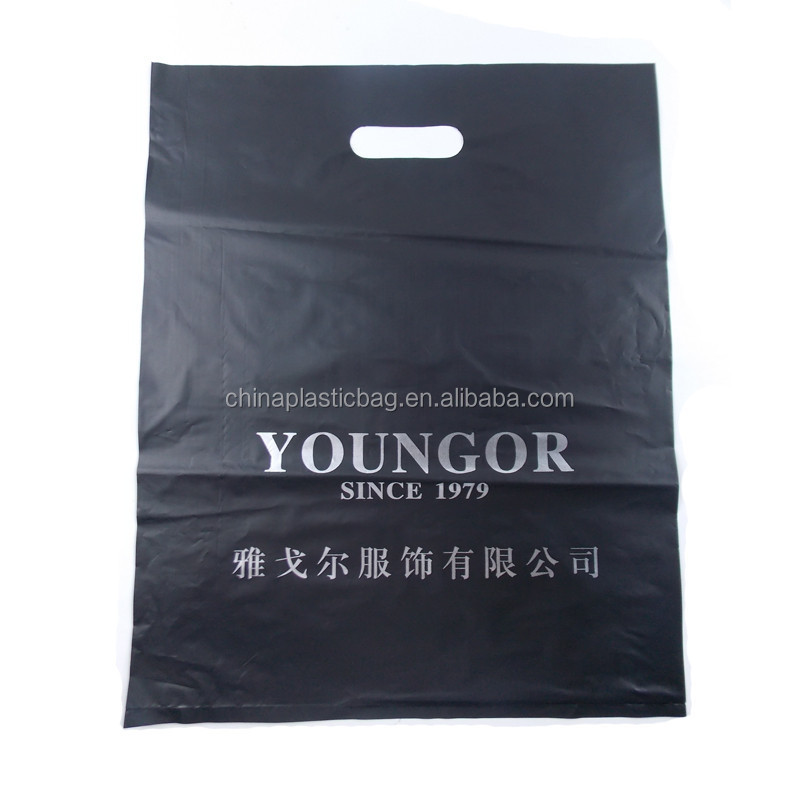vogue custom printed defendable plastic punch handle bags in guangzhou china