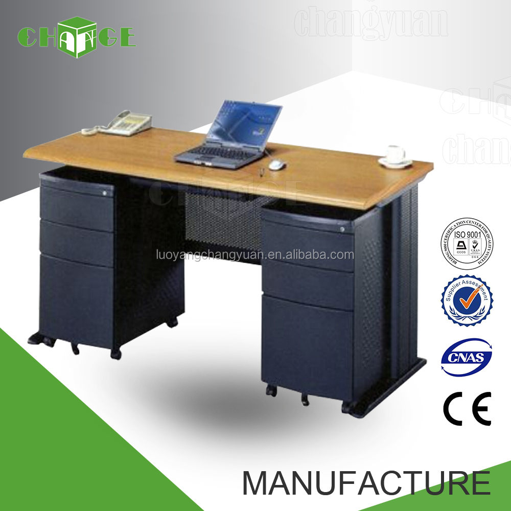 Top quality wooden top metal frame office desk