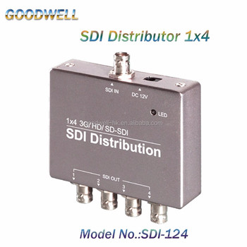 Factory Direct Supply Mini Pocket Size Broadcast Quality SDI Splitter 1 to 4 with DC 5-12V Power Input