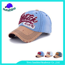 Supplying stock leather strapback summer hats OEM souvenir jean baseball caps canada