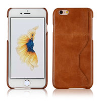 C&T Genuine Leather Ultra Slim Fit Credit Card Holder Wallet Back Case for iPhone 6/6s 4.7 inch