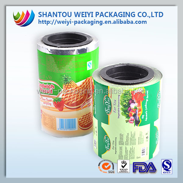 Custom design plastic sequin plastic film for food sachet