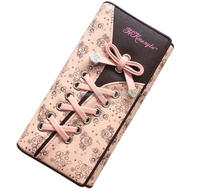 Cute knotted and weaved printed smart 3fold wallet