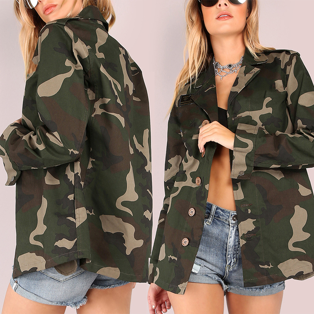Online Shopping Womens Patch Button 100% cotton camouflage winter coats