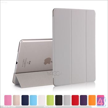 2016 New Coming Cooling PU Leather Tri Fold Smart Cover Case For APPLE iPad Air 2