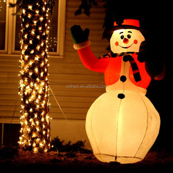 outdoor lighted snowman,giant inflatable snowman