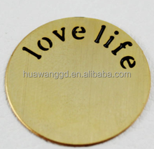 Custom design gold round floating plates with love life
