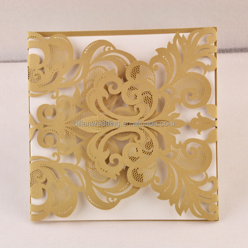 Popular Style In UK USA Middle East Africa Shell Shape Invitation Cards  Wedding