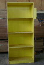 primary school furniture luxury wooden bookcase/colorful bookcase