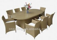 All Weather oval rattan table and chairs