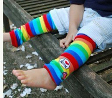 New Design Chinese Rainbow Socks Cheap Baby Cotton Leg Warmers