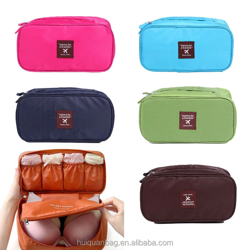 Wash Laundry travel toiletry bag hanging Underwear Bra Organizer cosmetic makeup brushes roll bag pouch