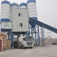 HZS90 Belt -Conveyor concrete batching station