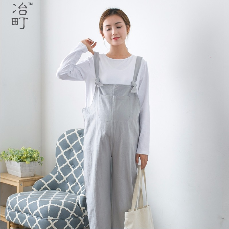 Factory direct selling good price 100% cotton comfortable casual wear maternity pantsuit for pregnant women