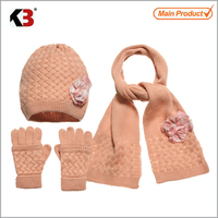 2017 hat scarf glove set popular in greece Mexico / toddler hat scarf sets