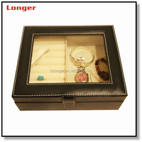 Hinges for jewelry box Luxury fancy leather jewelry box custom wedding ring box