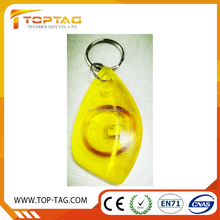 2017 new item transparent clear mango rfid key fob/RFID key chain