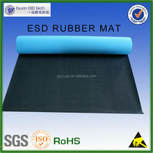 [factory]Black blue Color 2.0mm Anti-static rubber sheet ESD Mat with high quality