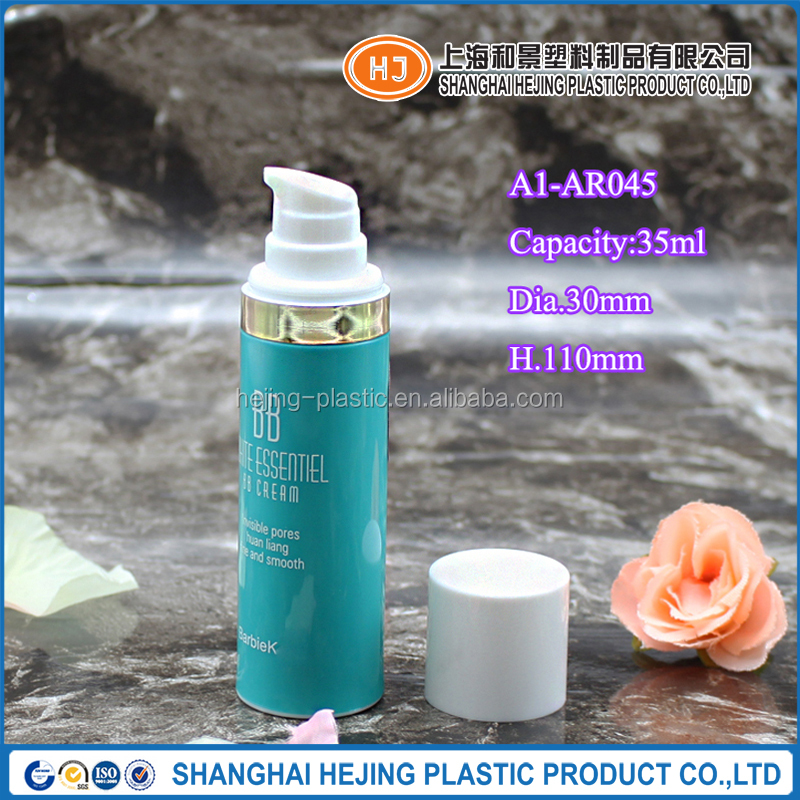 35ml PP plastic cosmetic airless pump bottle for BB cream