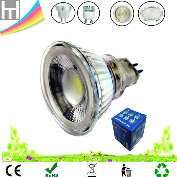 Shenzhen factory wholesale glass 5W 12v dimmable mr16 gu5.3 led bulb