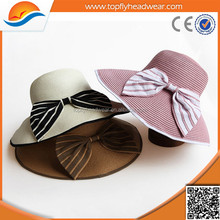 Summer Promotional Colorful Straw Hats Fedora Hats for Women