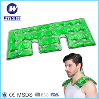 Custom reusable instant click magic PVC coin activated gel heat pack for neck shoulder