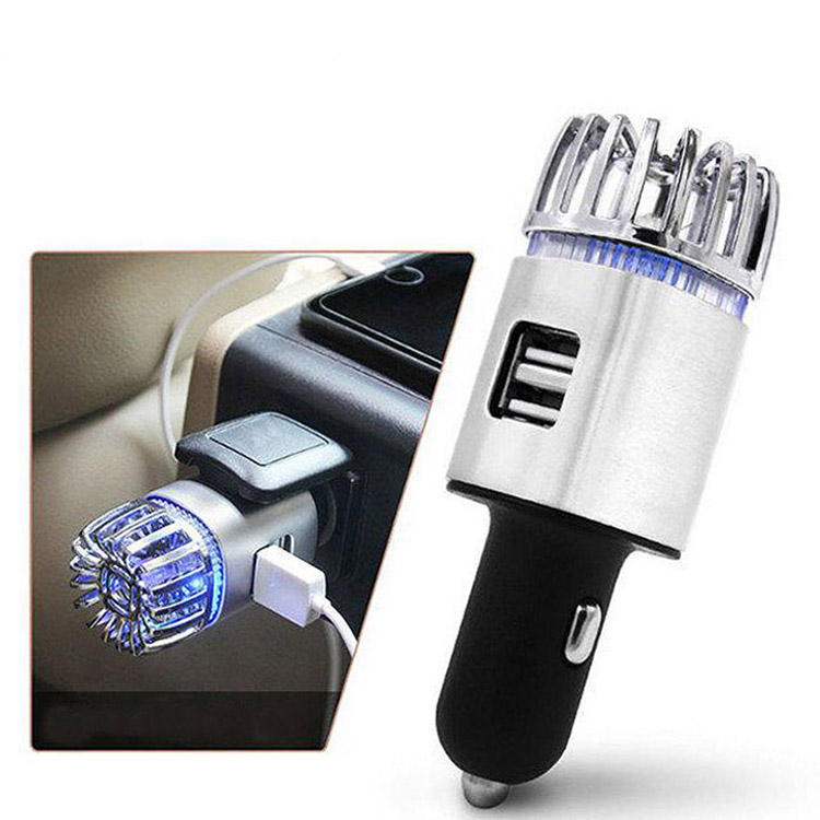 2020 Interior Accesorios Para Carros <strong>Autos</strong> Tuning Multi-function Car Phone Usb Charger With Air Purifier (JO-6291)