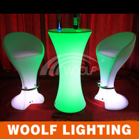Metal Accessory Plastic Strong Color RGB LED Chair