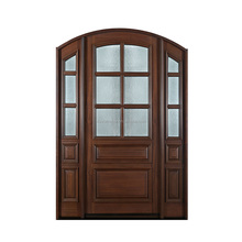 Arch top design for villa entry door with glass inserting front door