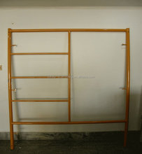 Canadian lock box frame scaffolding with coupling pin