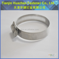 Heavy Duty Clip Womm Drive Corrugated Pipe Hose Clamps