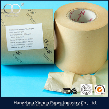 unbleached heatsealable tea bag filter paper